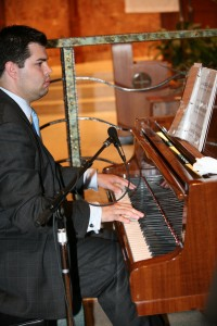 Seth Cutter plays piano
